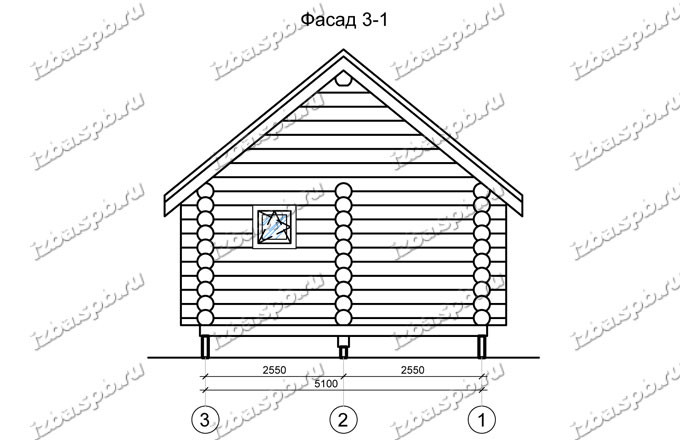Дом-баня-из-бревна-6х9,-вид-2-(проект-Н2220)