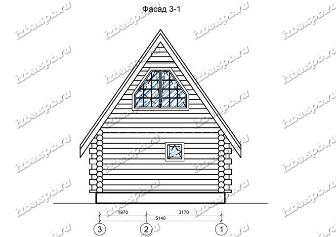 Дом-баня-из-бревна-6х9,-вид-2-(проект-Н349)