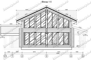Дом-из-бревна-13х14,-вид-1-(проект-Н2215)