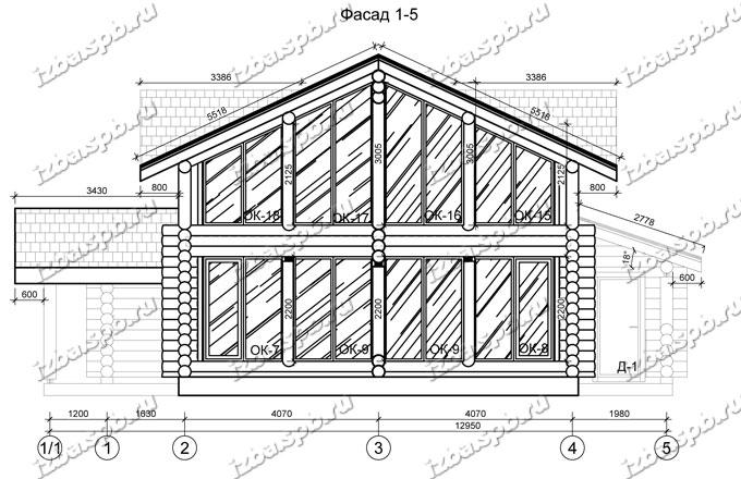 Дом из бревна 13х14