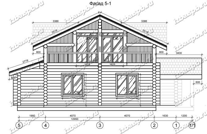 Дом-из-бревна-13х14,-вид-2-(проект-Н2215)