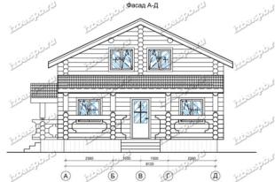 Дом-из-бревна-9х12,-вид-1-(проект-Н2114)
