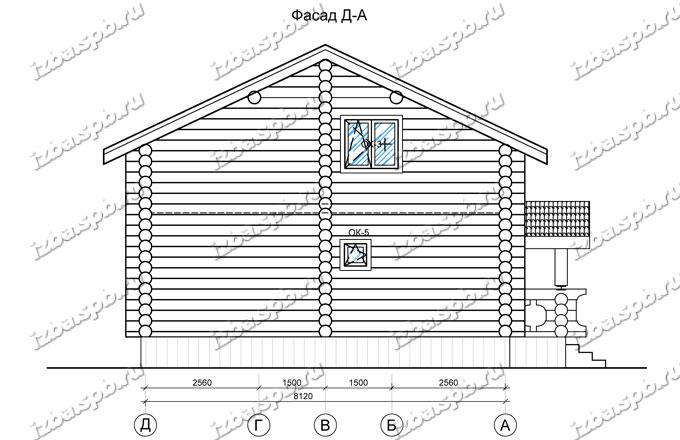 Дом-из-бревна-9х12,-вид-2-(проект-Н2114)