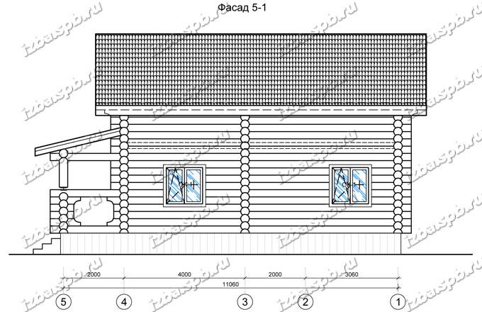 Дом-из-бревна-9х12,-вид-3-(проект-Н2114)