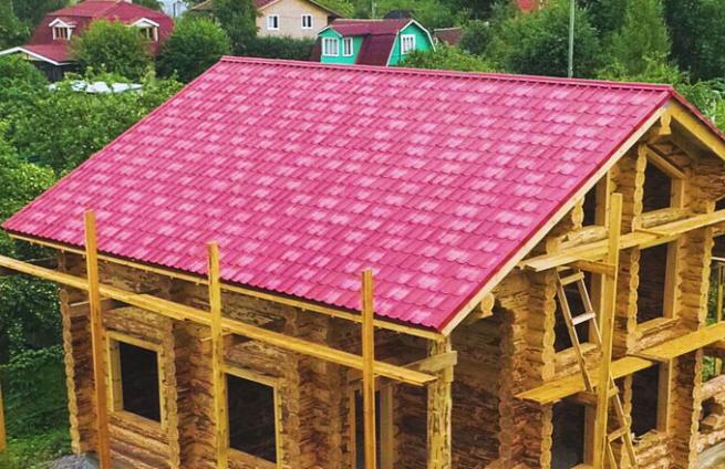 Крыша для сруба. Советы по установке