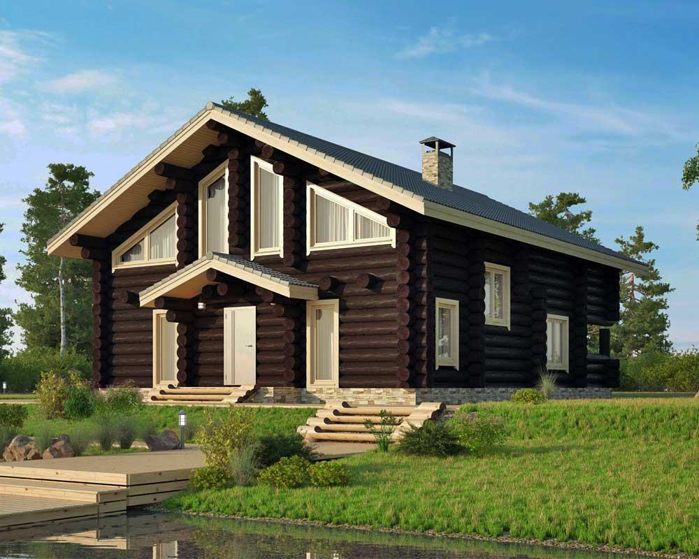 Деревянный-дом-из-бревна