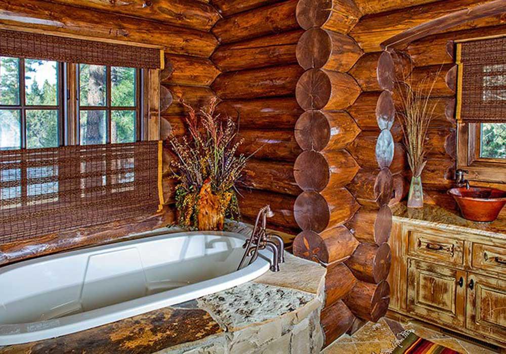 Ванная комната в деревянном доме. Особенности обустройства