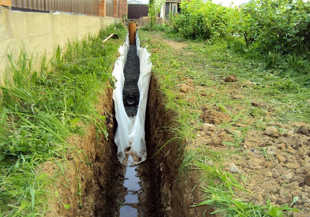 Дренаж участка с высоким уровнем грунтовых вод