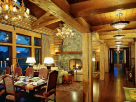 освещение-гостиной-в-деревянном-доме