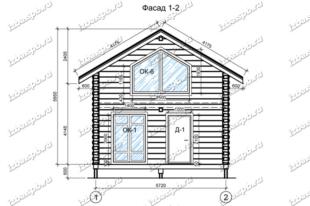 Дом-баня-из-бревна-6х9-(проект-Н3214)