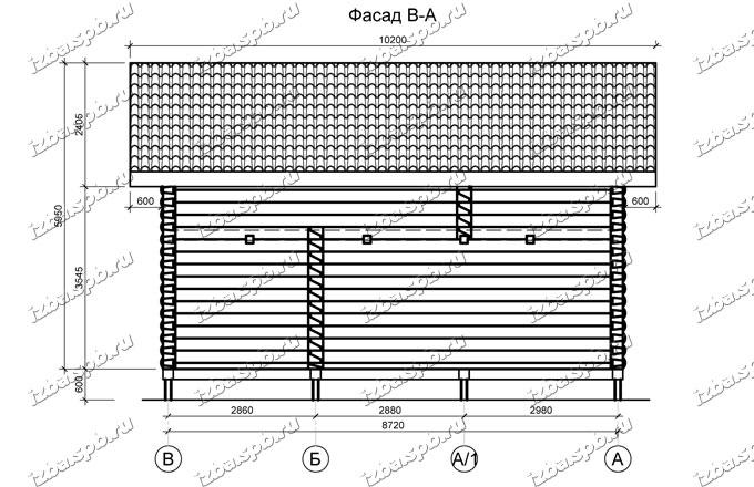 Дом-баня-из-бревна-6х9-(проект-Н3214),-вид3
