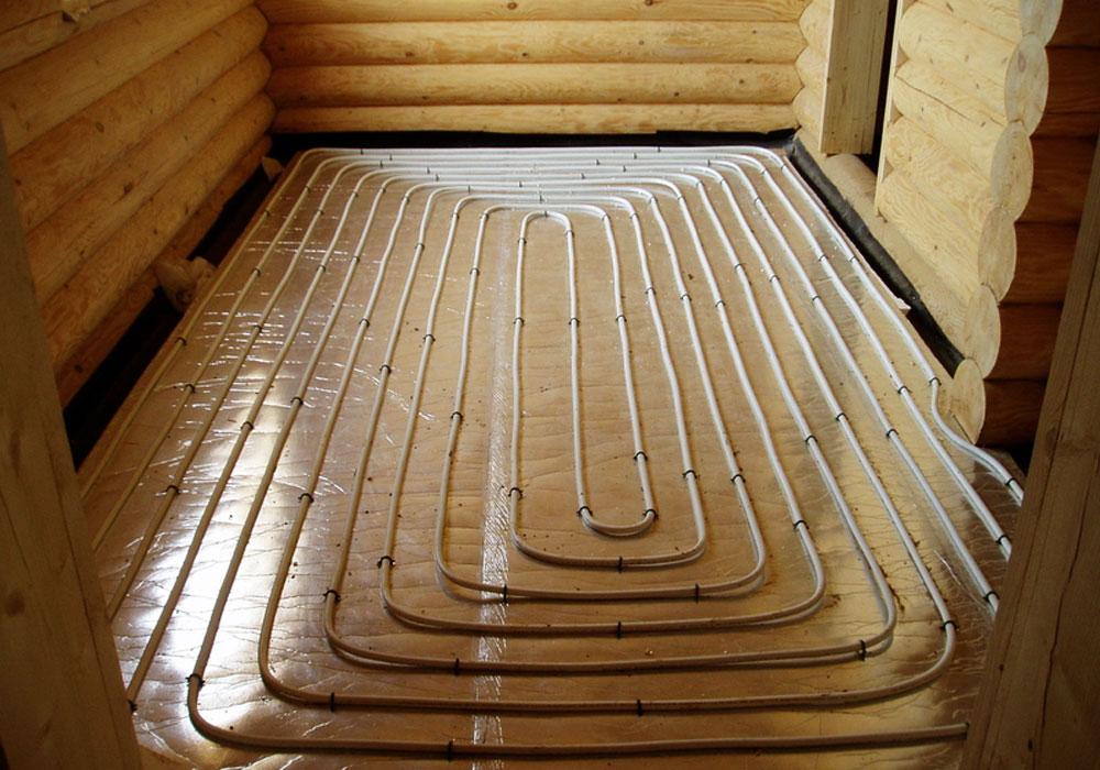 Отопление теплыми полами в деревянном доме