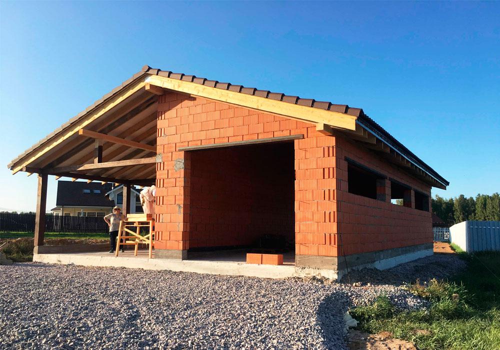 Строительство дома из поризованного кирпича