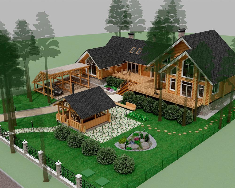 Как расположить дом на участке по сторонам света?